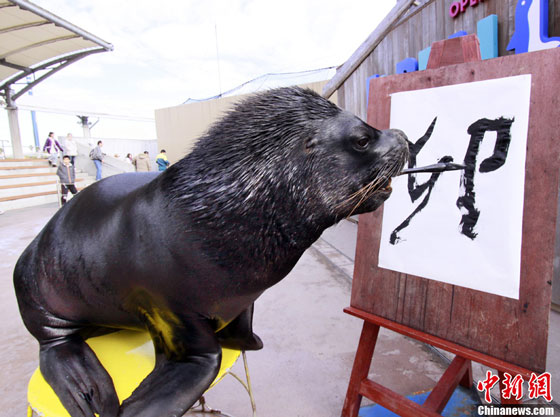 Japanese sea lion new year calligraphy